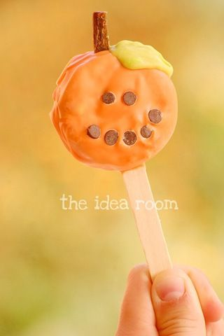 Pumpkin Oreo Pops, Great For Class Parties: Oreo Treat, Pumpkin Oreo, Pumpkin Pop, Halloween Pumpkin, Oreo Pop, Oreo Pumpkin