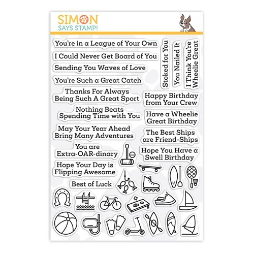 Simon Says Clear Stamps What A Good Sport Outdoors Sss202195 In 2021 Clear Stamps Simon Says Stamping Supplies
