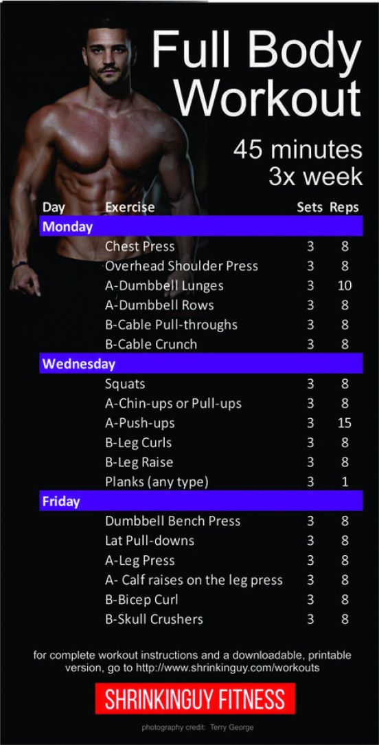 Fine This Is A Balanced 3 Day A Week Full Body Workout Routine Creativecarmelina Interior Chair Design Creativecarmelinacom