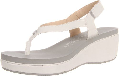 #Calvin Klein Women�s Whitlie Two Tone Patent Wedge Sandal, Antique White women womens women's woman womans woman's footwear foot wear fashion style dress work working casual career bootie booties boot boots clog clogs flat flats flip flop flip flops heel heels loafer loafers mule mules platform platforms pump pumps sandal sandals sneaker sneakers wedge wedges runner runners running shoes shoe  #Heeled Sandals #2dayslook #Heeled fashion #sandalstyle  www.2dayslook.com