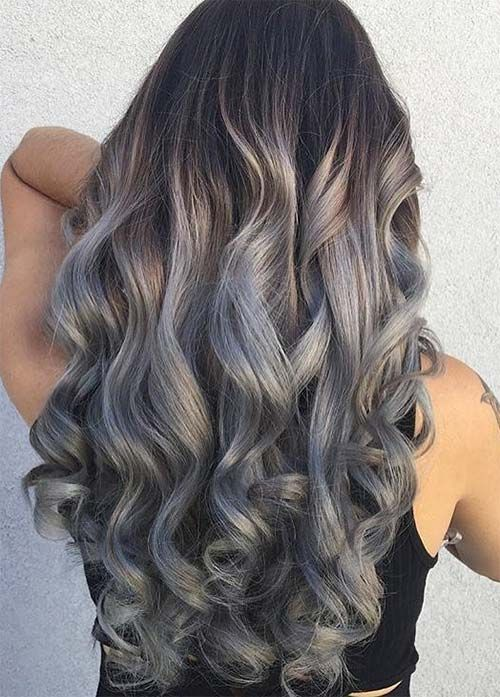 Granny Silver/ Grey Hair Color Ideas: Sterling Silver Curly ...