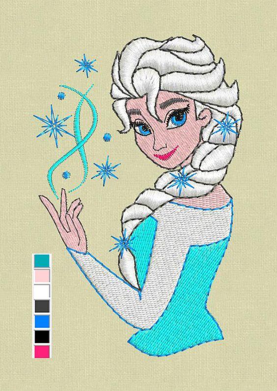Elsa Frozen broderie design PSE jef hus vp3 fichiers