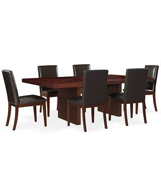 Bari Brown 7-Pc. Dining Set (Table & 6 Chairs)