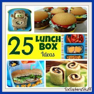 25 Fun Lunch Box Ideas #kidslunch #snacks #schoollunch