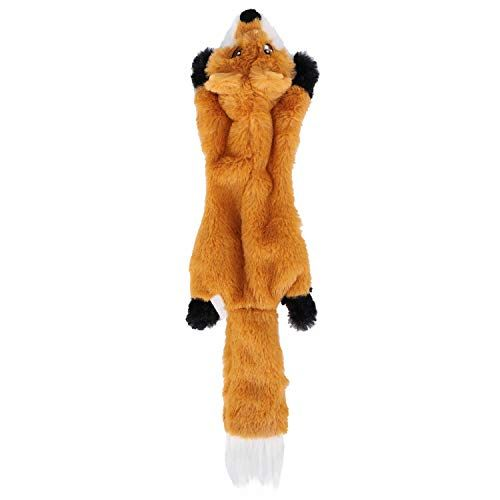 Stuffingless Dog Toys With Squeaker Fox Dog Toy No Stuffing Tough