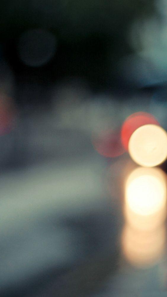 Traffic Stop Lights Blur #iPhone #6 #plus #Wallpaper