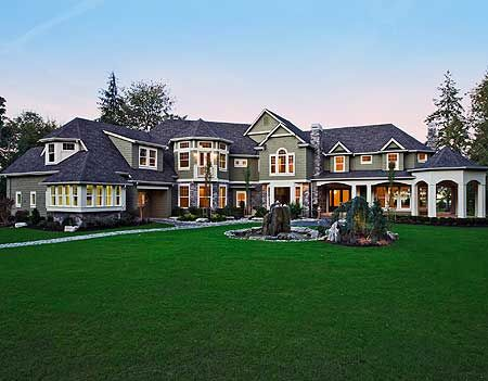 plan 2389jd luxurious shingle style home plan luxury