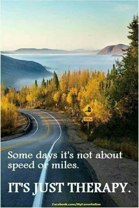 Some Days It S Not About The Speed Or The Miles It S Just Therapy