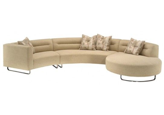 Perfect large round curved sofa sectional Baxton Studio Lilia Curved Piece Tan Fabric Modern Sectional Sofa Arc Sofa us Pinterest Modern sectional