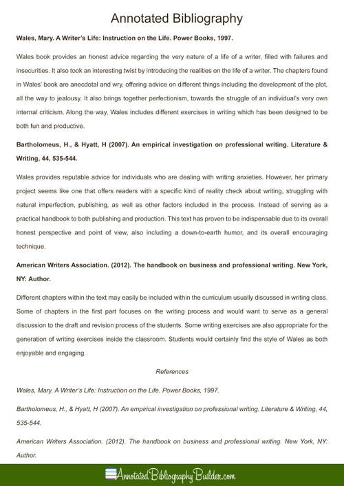 Pin by Annotated Bibliography Samples on Example of an Annotated - annotated bibliography template