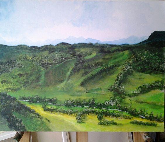 PAISAJE....Salento.. Colombia...Acrilico sobre tela.....Autor..Valentina Zuluaga.
