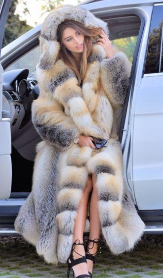 Fox Furs Exclusive Royal Saga Fox Fur Fantastic Long Fur Coat