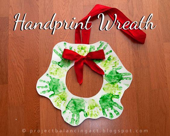Hand-print Wreath . . . cute!