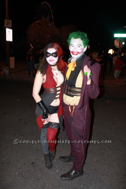 The Comic Joker and his Sexy Lady Harley Quinn Couple Halloween Costume  Halloween