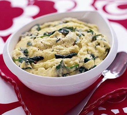 Creamy polenta with spinach | Recipe | Creamy Polenta, Polenta and ...
