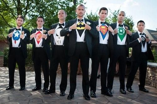 Let the boys have some fun with their tux! Makes for a fun picture and they can be comfortable later!