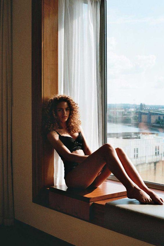 Nada Adelle Stays in Intimates for the Day with Ola Ajani