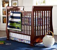 Alligator Madras Nursery Bedding Set: Crib Fitted Sheet, Toddler Quilt & Crib Skirt