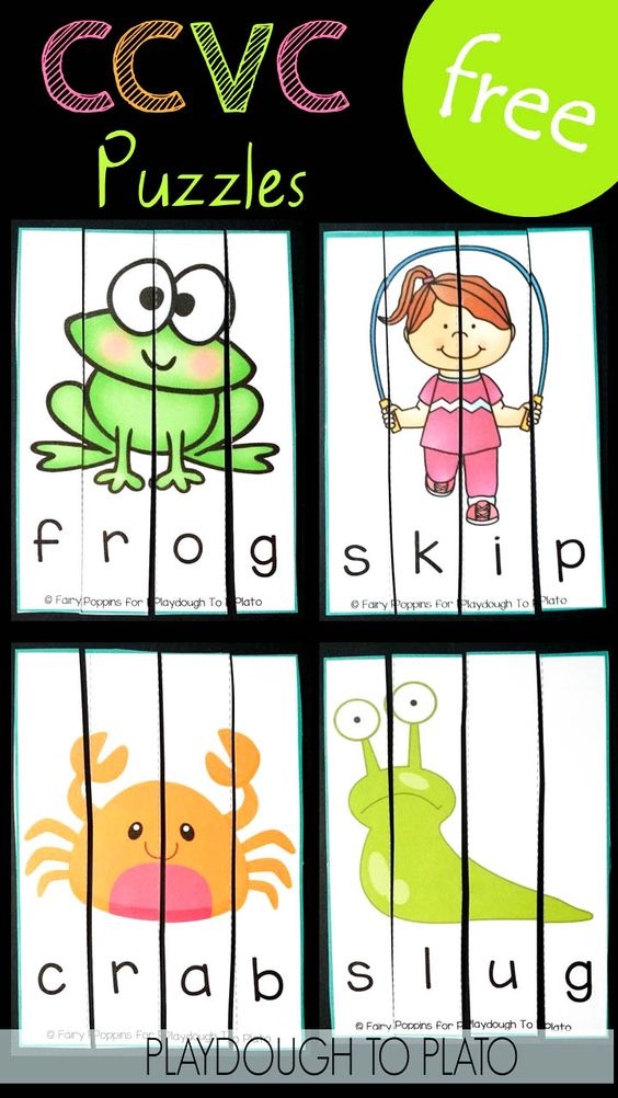 Fun blends activity and digraph game! Solve 24 free CCVC puzzles.