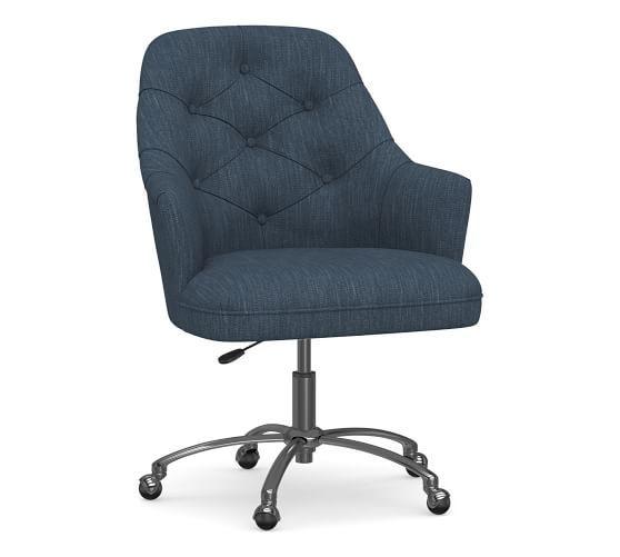 Everett Upholstered Swivel Desk Chair In 2020 Desk Chair Swivel
