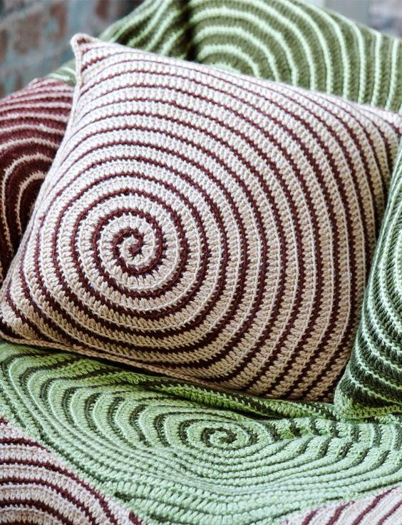 Yarnspirations Free Crochet Patterns : Yarnspirations.com - Caron Vortex Afghan and Pillows ...
