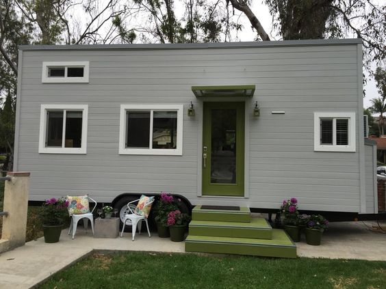 This is a 270 sq ft tiny house on wheels for sale in La Mirada
