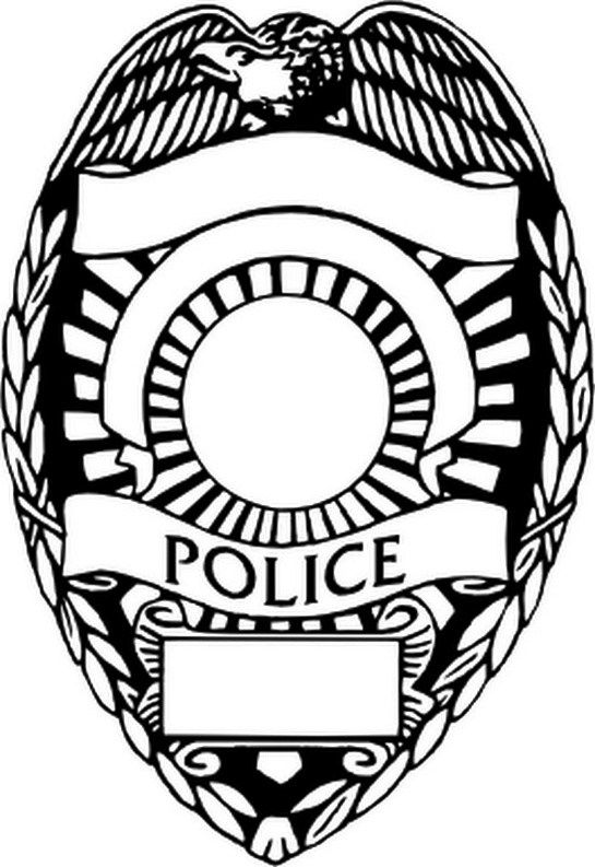 Police Badge Coloring Page Printable Police Badge Police