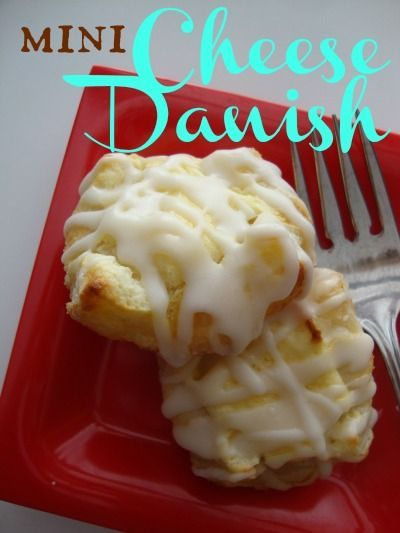 // // Whenever I go into a bakery, one of my first choices is a cheese danish. I would choose these over a doughnut any day! I am such a fan of anything made with cream cheese! These mini (bite ...