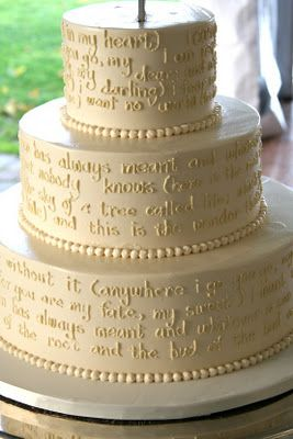 bible verses written on the cake!! I love this idea!!