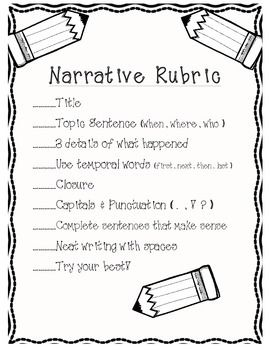 narrative writing for first grade Grade ela-writing curriculum 1st grade writing units quarter unit 1 1 (remind students of the narrative stories they wrote in.