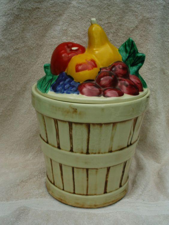 McCoy Cookie jar. Fruit Basket Marked on bottom 157 McCoy