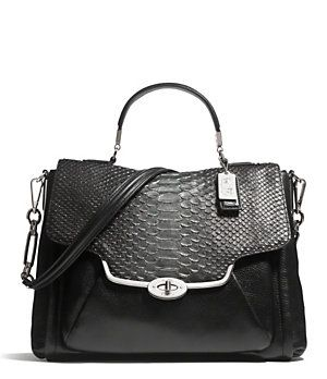 Oh my heart!! I'm in LOVE!!!   COACH MADISON SADIE FLAP SATCHEL IN GLITTER PYTHON | Dillard's Mobile