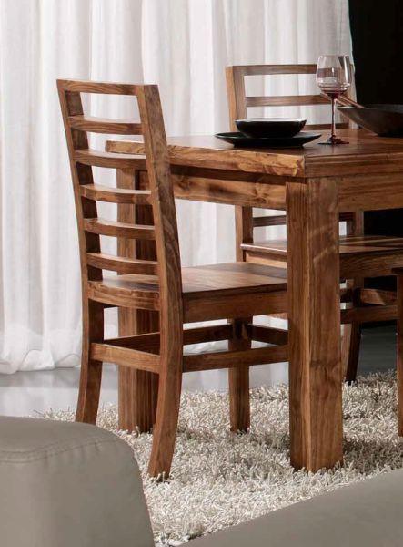 sillas comedor rusticas madera redondeada