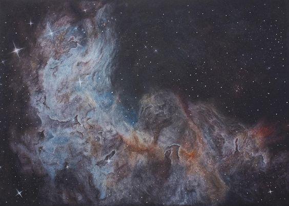 Nebula Practice #3 Pastel & Charcoal Black A4 paper
