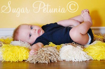 Pom Pom rug photo prop