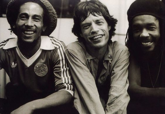 Love it. Reggae sandwich with a slice of rock 'n' roll.  a.k.a Bob Marley, Mick Jagger, and Peter Tosh