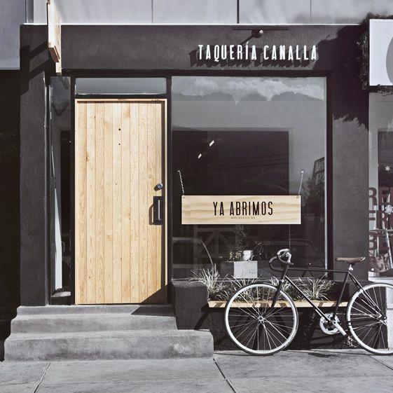 Taqueria Canalla, shopfront.  By Manifesto Futura