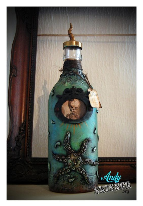 Altered Bottle by Andy Skinner http://pinterest.com/andysskinner/altered-bottles/: