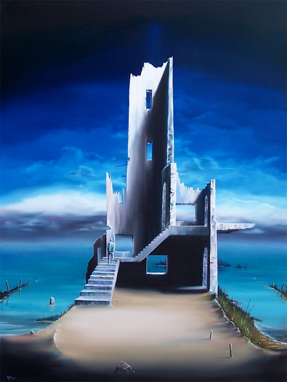 """Turning Point - David Fedeli 40""""x30"""" Oil on Canvas"""