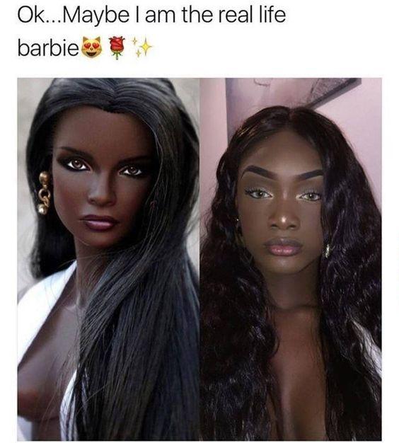 Black girl magic barbie in real life