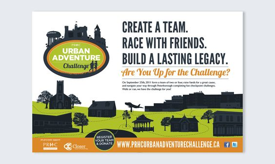 Naomi Francois on Behance #graphic #design #illustration #illustrated #green #blue #orange #race #teams #sporting #event #charity #hospital #peterborough #hospitals #challenge #bhuildings #typography #poster
