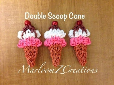 cool Rainbow Loom Ice Cream Cone - Nederlands IJsje met bolletje