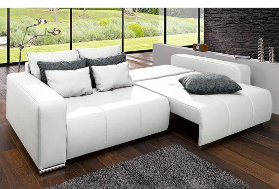 Big-Sofa, mit Bettfunktion Rechnung Ratenkauf