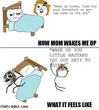 Mega Troll: How MOM Wakes me Uppppp!!!