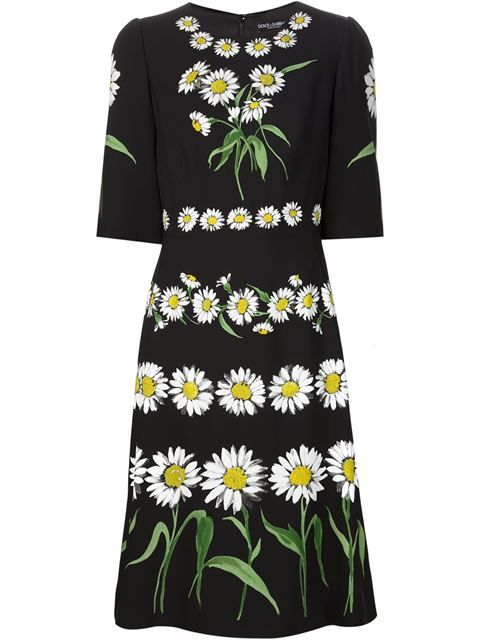 Shop Dolce & Gabbana daisy print dress in Reija from the world's best independent boutiques at farfetch.com. Shop 400 boutiques at one address.