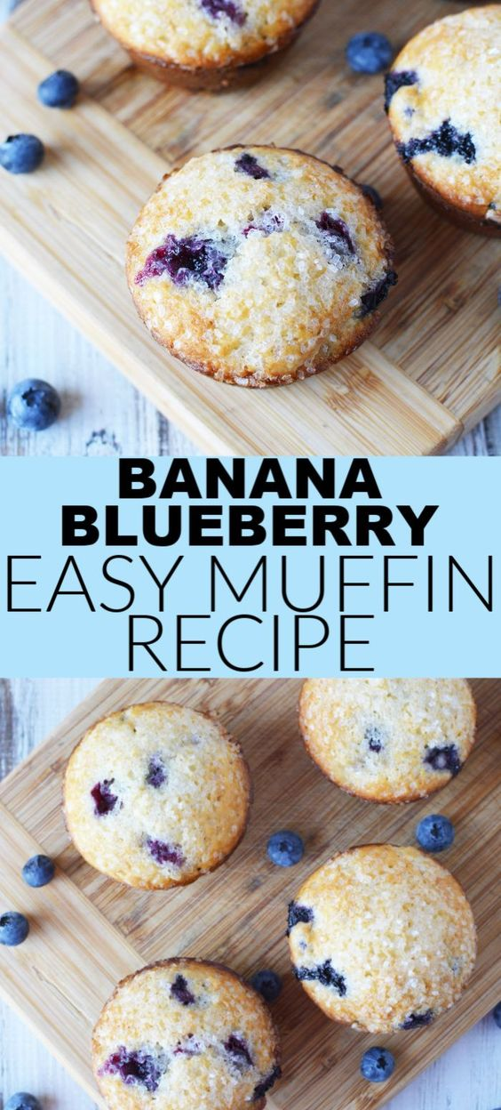 Banana Blueberry Easy Muffin Recipe
