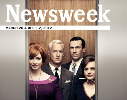 """Newsweek cover retrofitted to celebrate the return of """"Mad Men"""""""