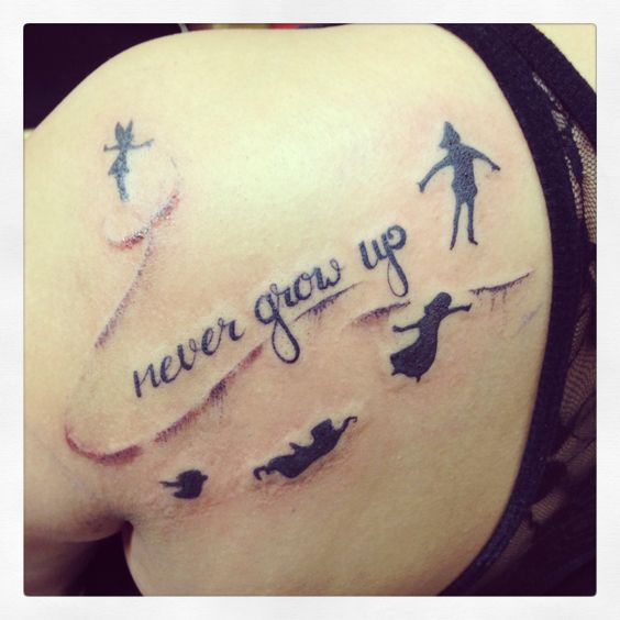 Peter Pan Tattoo Never Grow Up. I love it so much