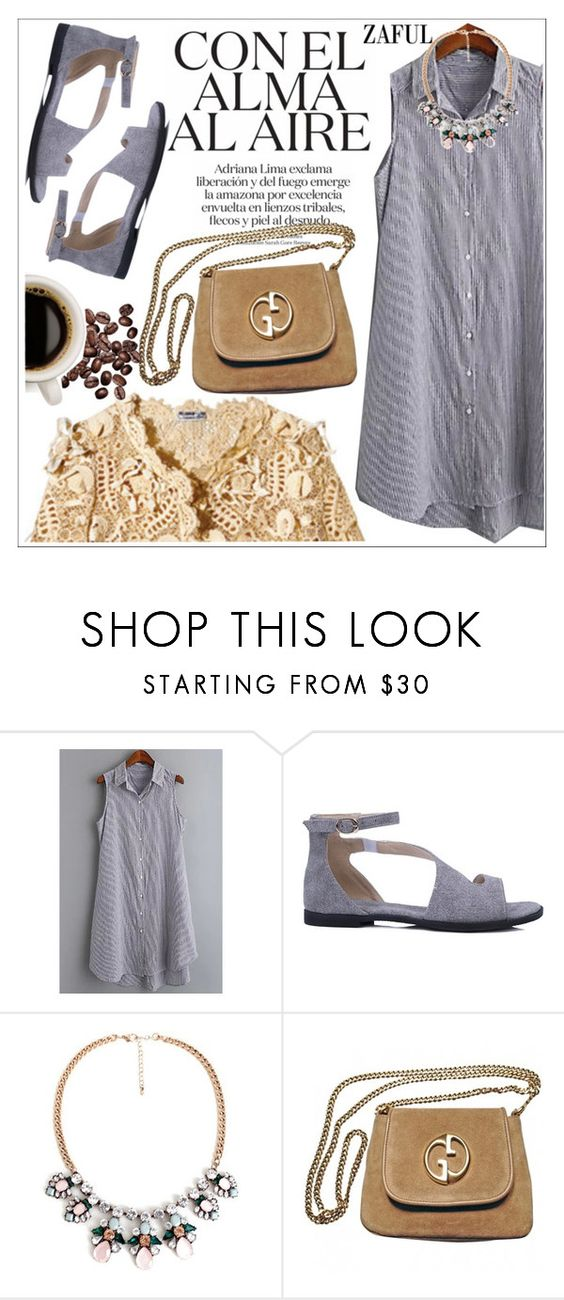 """""""Zaful"""" by teoecar ❤ liked on Polyvore featuring Oscar de la Renta, Gucci and zaful"""
