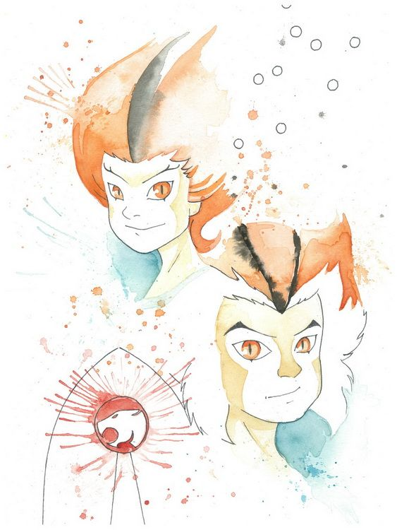 Awesome painting of Thundercats Thunderkittens!